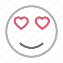 emoji, emoticon, face, heartglasses, love icon
