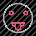 emoji, emoticon, smiley, stuckout, tongue