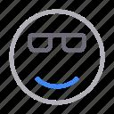 emoji, emoticon, face, smiley, sunglasses