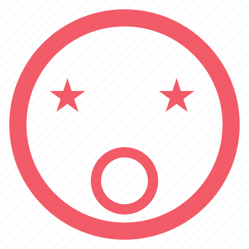 emoji, emoticon, emotion, face, happy, smiley, star icon