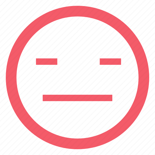 emoji, emoticon, emotion, face, indifferent, smiley icon