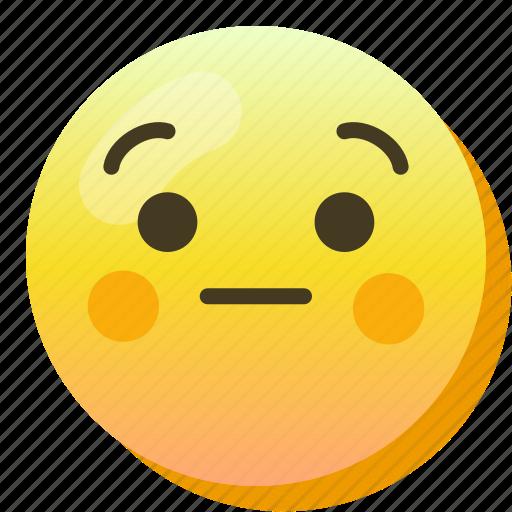 Ashamed, embarassed, emoji, emoticon, smile, smiley icon - Download on Iconfinder