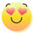 emoji, emoticon, flirt, heart, love, smile, smiley icon