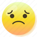emoji, regret, sad, smile, smiley, sorry, upset