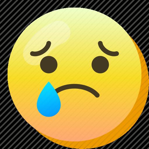 Cry, emoji, sad, smile, smiley, tear, upset icon - Download on Iconfinder