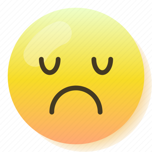 Depressed, emoji, emoticon, sad, smile, smiley, upset icon - Download on Iconfinder