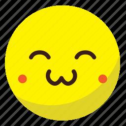 circle, cute, happy, sad, smile, sticker icon