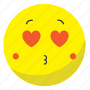 circle, cute, happy, sad, smile, sticker icon