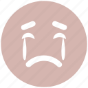 angry, crying, crying face, emoticons, emotion, expression, face smiley, sad, smiley, weeping icon