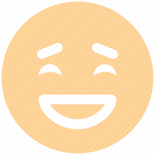 emoticons, emotion, excited, expression, face smiley, happy, laughing, smiley icon