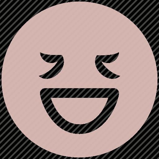 emoticon, expression, face, ha, happy, lucky, non-serious person, smiley icon
