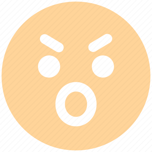 angry, emoticons, emotion, emotional, expression, eyebrow smiley, face smiley, sad, smiley, stare emoticon icon