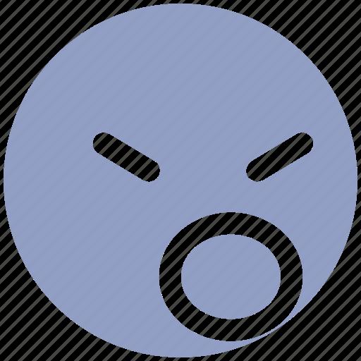 angey, emoji, emotion, emotions, face, head, sad, unhappy icon