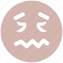 emoticons, emotion, face smiley, lip seal, rage, sad, smiley icon