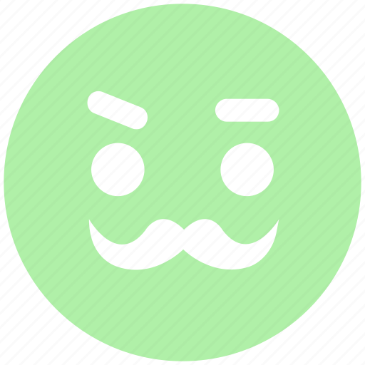 emoji, emoticons, face, man, old, smiley icon