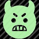 emoticons, emotion, expression, face smiley, gaze emoticon, rage, smiley, stare emoticon icon