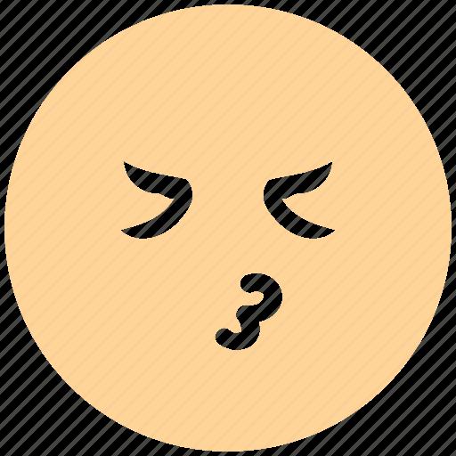 emoji, emoticons, expression, face, kiss, non-serious icon