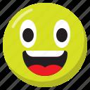 emoji, emoticon, expression, laugh, smiley icon
