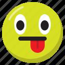 emoji, emoticon, expression, smiley, tongue out icon