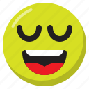 emoji, emoticon, expression, relieved, smiley