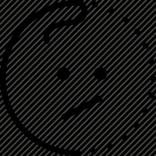 emoji, emotion, fail, lineart, meh, smiley, sticker icon
