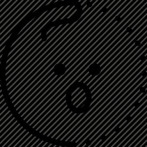 emoji, emoticon, emotion, lineart, smiley, success, surprise icon