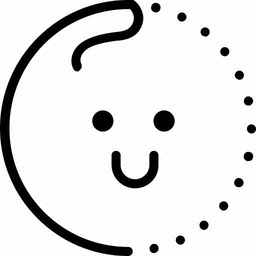 approve, emoji, emotion, happy, line, lineart, smiley icon