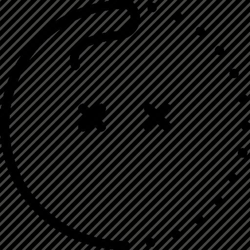 confused, dead, emoji, error, lineart, smiley, sticker icon
