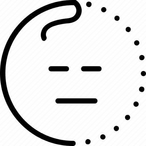 emoji, emotion, lineart, sleep, sleepy, smiley, tired icon