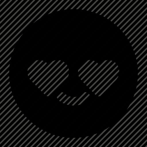 emoji, emoticon, expression, face, love, smileys icon