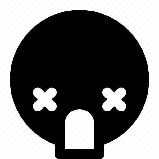 emoji, emoticon, expression, face, smileys, wasted icon