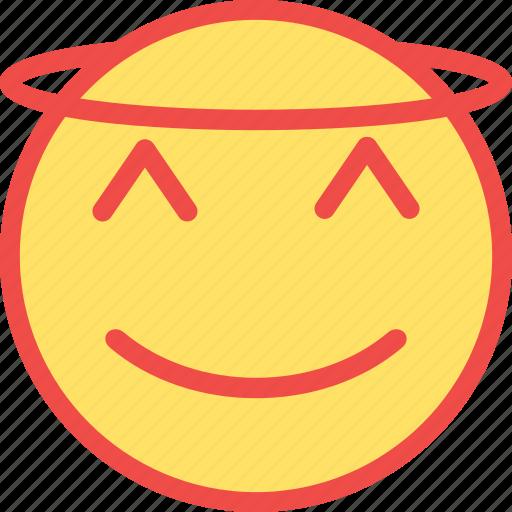 angel, angel emoji, good, good guy, religious emoticon icon