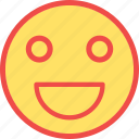 happy, laugh, laughing, open mouth emoji, smile icon