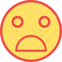 bad, bad emoji, frown, frown emoticon, horrible, sad icon