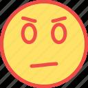 bad, bad emoji, confused, evil, upset