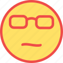 beach, eyeglasses, smart emoji, smart emoticon, summer icon