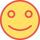 glad emoji, happy, happy emoticon, smile, smiley icon