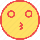 kiss, kissing, kissing smiley, love, love emoticon icon