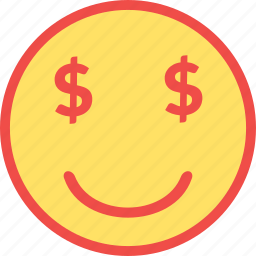 money emoji, money emoticon, money smiley, rich, rich emoticon icon