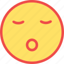 sleep, sleeping, sleeping emoticon, sleeping smiley icon
