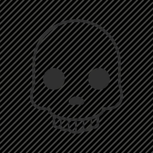 bones, dead, dead face, graveyard, skeleton, skull, skull face icon