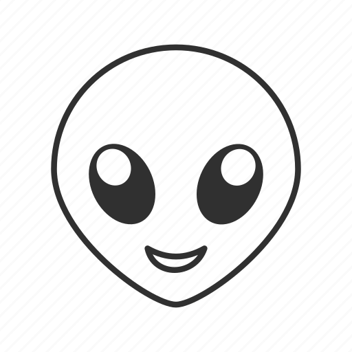 alien, alien head, cute eyes, cute face, emoji, extraterrestrial, extraterrestrial alien icon