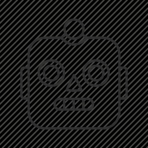 computer, emoji, face, machine, robot, robot face, technology icon