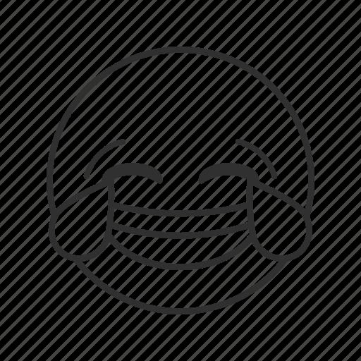 emoji, face with tears of joy, happy face, joyful, joyful face, tears, tears of joy icon