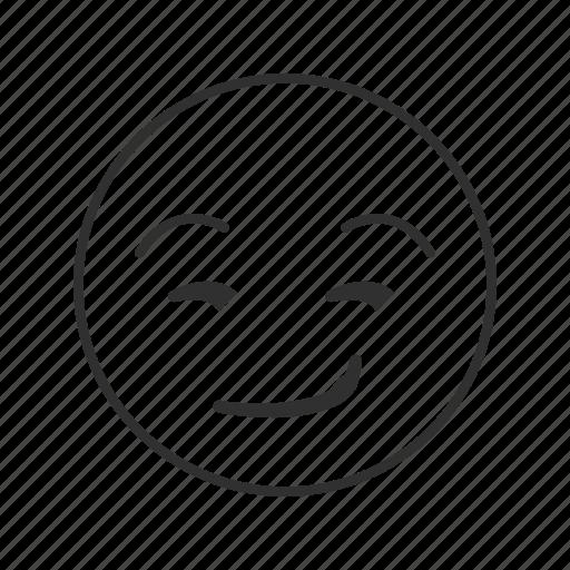 emoji, sarcasm, sarcastic face, smirk, smirking face, wry, wry smile icon