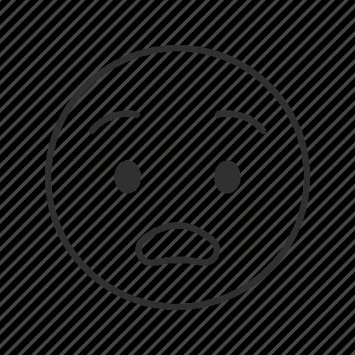 emoji, shocked, shocked face, surprised, surprised face, worried, worried face icon
