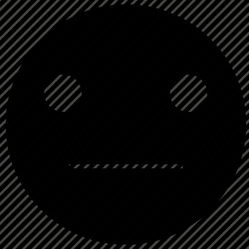 emoji, emoticon, emotion, face, indifferent, smile, smiley icon