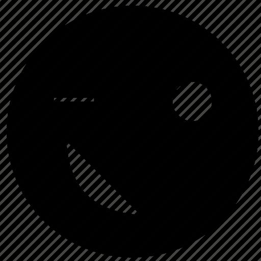 emoji, emoticon, emotion, face, happy, smiley, winking icon
