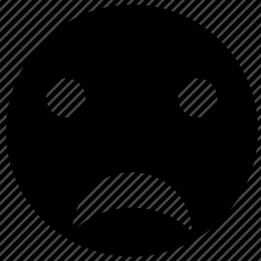 carton, emoji, emoticon, emotion, face, sad, smiley icon