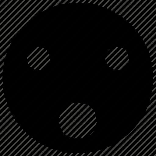 emoji, emoticon, emotion, face, smiley, surprised icon